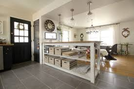 Industrial Kitchen Industrial Kitchen Island With Storage From Crates Pallets