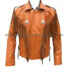 celebrita x fringe brown western leather jacket 800x800 jpg