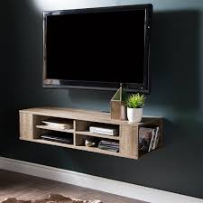 tv console with mount. Delighful Console Amazoncom City Life Wall Mounted Media Console  48u201d Wide Extra Storage  Weathered Oak By South Shore Kitchen U0026 Dining In Tv With Mount R