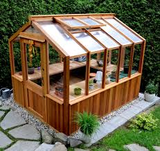 freestanding wood frame greenhouse by cedarbuilt makes a great she shed