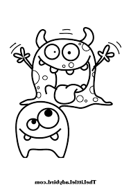 coloring book and pages outstanding monster