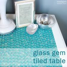 diy tabletop ideas. diy furniture update: how to tile a table with glass gems ~ madigan made { diy tabletop ideas e