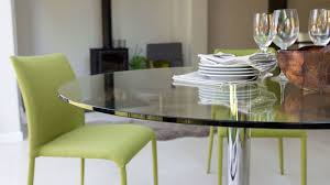 small clear glass two seater kitchen table