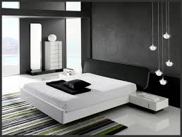 minimalist black and white bedroom interior design with black white interior design
