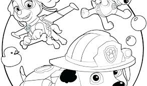 Paw Patrol Printable Color Pages Free Sheets Everest Coloring