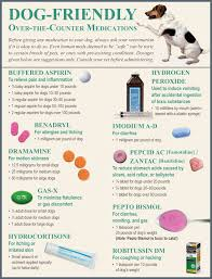 Dog Friendly Over The Counter Medications Chart Pin On Hiking Safety And First Aid