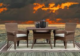 sunset west santa cruz 4 piece wicker dining set
