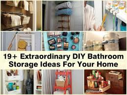Extraordinary DIY Bathroom Storage Ideas For Your Home - Bathroom diy