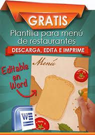 Descarga Gratis Plantillas Para Menus De Restaurantes Cartas De