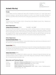 Format For Resume 27 New Basic Resume Layout Examples