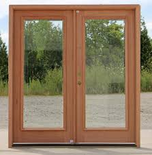 image of double exterior doors with glass