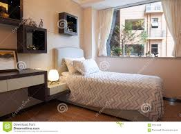 Small Modern Bedrooms Small Modern Bedroom Stock Photo Image 57574043