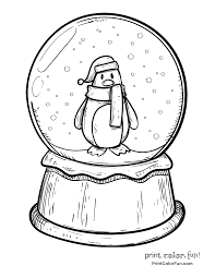 Small Picture Snow Globe Coloring Page And glumme
