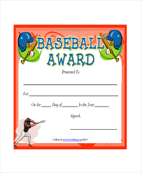 Baseball Certificate Template Baseball Certificate Template 5 Free ...