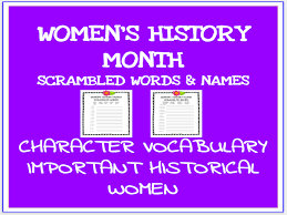 Womens History Month Lesson Student Exercices Printable No