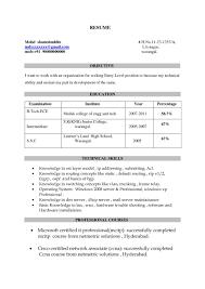 It Resume Format For Freshers Fresher Cover Letter Sample