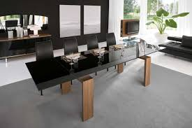 elegant modern glass and wood dining table 8 top set sets luxury leather leeds large