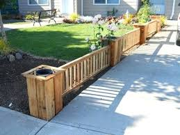 planters on fence cedar fence planter kit by on planters fence . planters  on fence ...