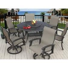 round outdoor dining sets. Heritage Outdoor Living Barbados Sling Patio 7pc Dining Set With  60\ Round Outdoor Dining Sets M