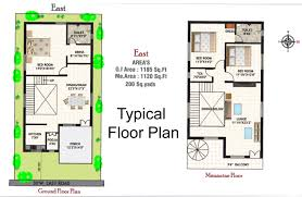 30x40 Duplex House Floor Plan Awesome East2 North Facing Plans As