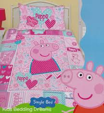 peppa pig pink quilt cover set