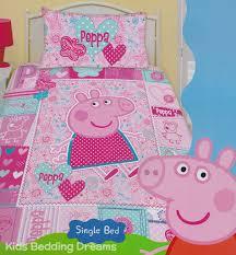 peppa pig pink quilt cover set bedding kids