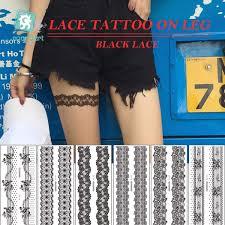 Senarai Harga New Arrival Sexy Black Lace Leg Chain Fake Flash