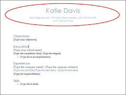 Resume Header Simple 28 Easy Word Tips To Create A Killer Resume DAVIS Cos