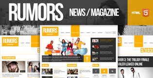 Rumors News Magazine Responsive Html5 Template Nulled