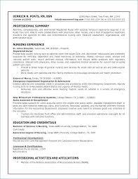 Sample Nurses Resume Inspiration Med Surg Nurse Resume Best Of 44 Fresh Nursing Resume Samples