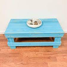 Wooden coffee table with turquoise inlay by treestump woodcrafts. Amazon Com Del Hutson Designs Natural Reclaimed Barnwood Rustic Farmhouse Coffee Table Usa Handmade Country Living Decor Distressed Turquoise Kitchen Dining