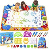Shop for aqua doodle color mat online at target. Amazon Com Jasonwell Aqua Magic Doodle Mat 40 X 32 Inches Extra Large Water Drawing Doodling Mat Coloring Mat Educational Toys Gifts For Kids Toddlers Boys Girls Age 3 4 5 6 7 8 Year Old Office Products