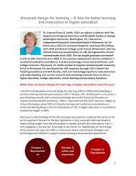 Learner Variability And Universal Design For Learning Universal Design For Learning A Lens For Better Learning And