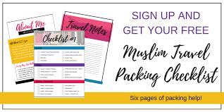 Packing Check List Muslim Travel Packing Checklist K T Lynn