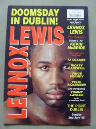 lennox lewis memorabilia. lennox lewis vs justin fortune official onsite programme memorabilia
