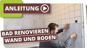 Bad Neu Gestalten Boden Und Wände Im Alten Badezimmer Renovieren