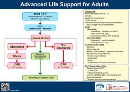 Cpr Chart 2016 Anzcors Advanced Life Support Flowchart 1 Reproduced With