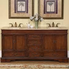 popular com silkroad exclusive travertine stone top double sink within 72 inch bathroom vanity