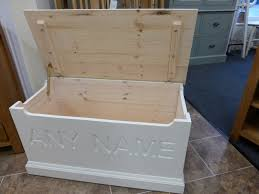 bespoke toy box optional name engraving bedroom blanket bo pine bury