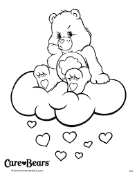 Small Picture Care Bears coloring sheet Dont let the grumpies get you Meet