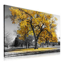 large tree yellow leaves nature pictures print canvas wall art prints unframed on autumn tree set of 3 framed wall art white brown with canvas wall art ebay