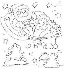 Kleurplaat Kleurplaat Kerstman Slee Tjpg