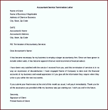termination letter template accounting service termination letter template word doc template