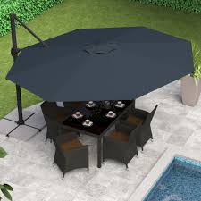 fabulous 11 ft offset patio umbrella 18 for with 11 ft offset patio umbrella