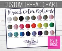 Custom Embroidery Thread Color Swatch Chart Graphic For Your Etsy Shop Shaped Color Chart Resource For Monogram And Embroidery Shops