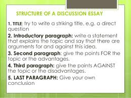 discussion essay structure of a discussion essay esl discussion  discussion essay 3 structure of a discussion essay esl discussion essay topics