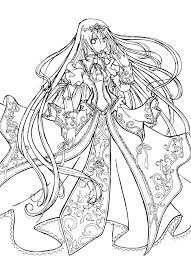 Anime Coloring Pages For Adults Anime Coloring Pages Anime Girl