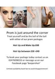 es beepers hair prom hair make up packages