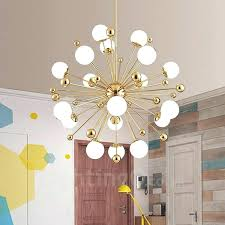 contemporary ceiling light modern contemporary ceiling light lights copper plating chandelier with white ball glass shade for cool contemporary flush mount