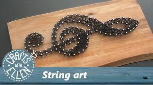 String Art How To Make String Art Tutorial Youtube